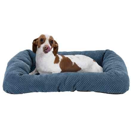 "Sleep Zone Twill Low Bumper Dog Bed - 26x19"" in Denim - Closeouts"
