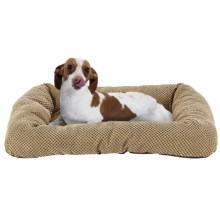 "Sleep Zone Twill Low Bumper Dog Bed - 26x19"" in Tan - Closeouts"