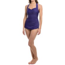 Slender Tunic One-Piece Swimsuit (For Women) in Wild Grape - 2nds