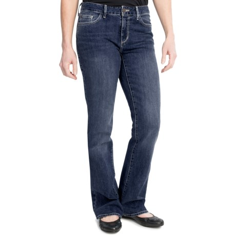 Slightly Curvy Fit Jeans - Bootcut (For Women) in Dark Wash