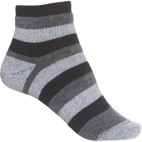 Slightly Socks - Merino Wool, Quarter Crew (For Women) - BLACK (L ) -  Wigwam