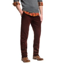 Slim Fit Corduroy Pants - Low Rise (For Men) in Bitter Chocolate - 2nds