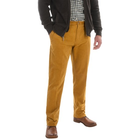 Slim Fit Corduroy Pants - Low Rise (For Men) in Chamois