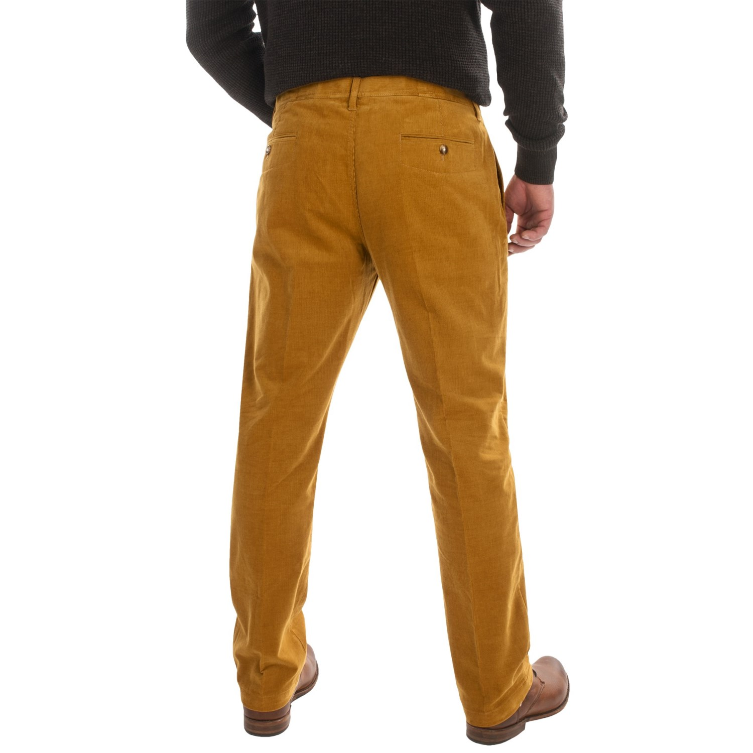 Slim Fit Corduroy Pants (For Men) - Save 74%