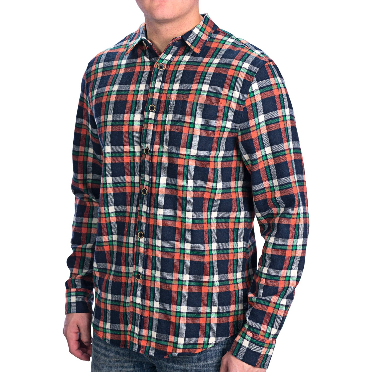 Slim fit flannel shirt long sleeve for men save 56 for Mens slim fit flannel shirt