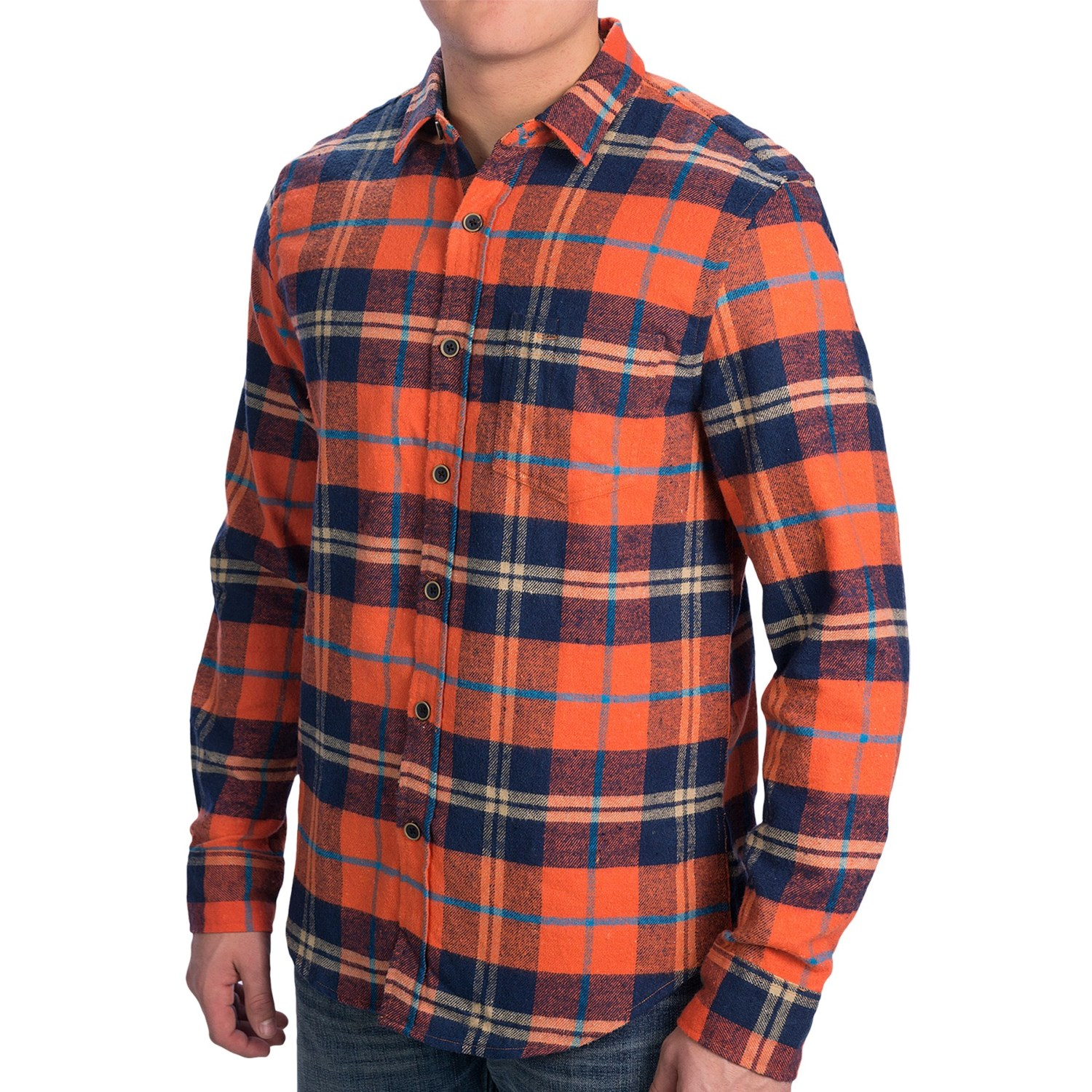 Document moved for Mens slim fit flannel shirt