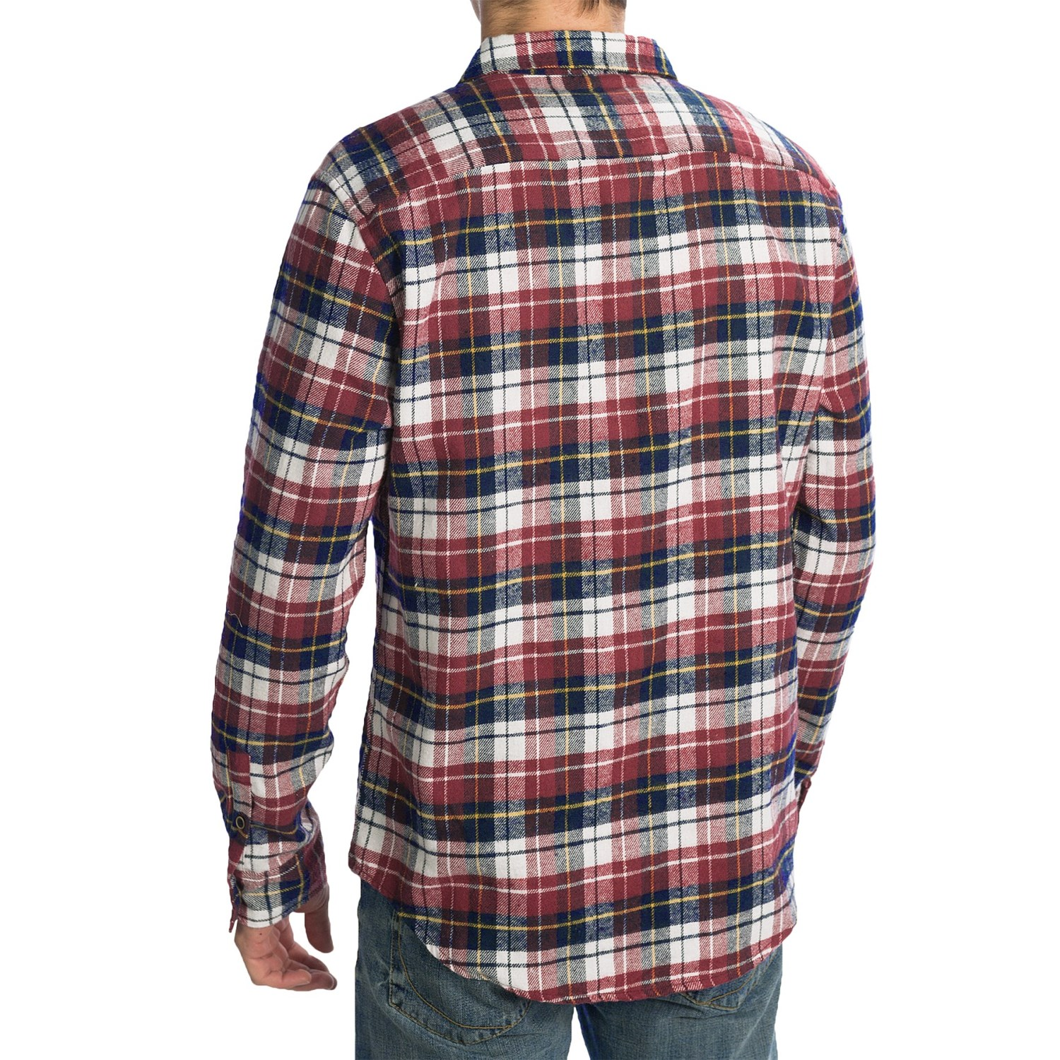 Slim fit flannel shirt for men 8250y save 82 for Mens slim fit flannel shirt