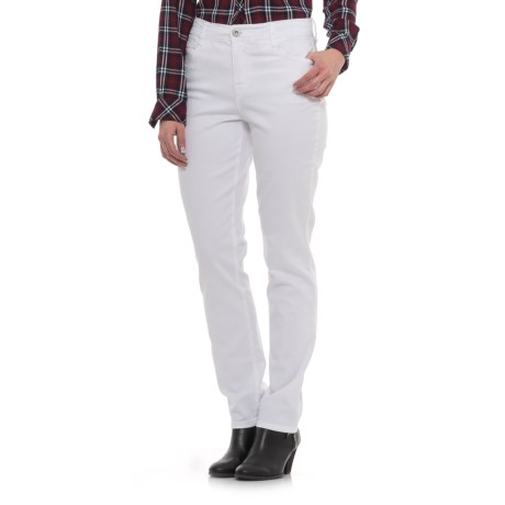 Slim-Leg Colored Jeans (For Women) in White