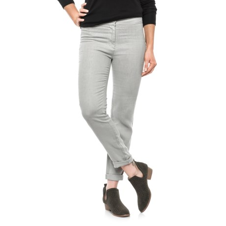Slim Linen Ankle Pants (For Women)