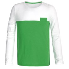 Slub Knit Shirt - Long Sleeve (For Little and Big Girls) in Green - 2nds