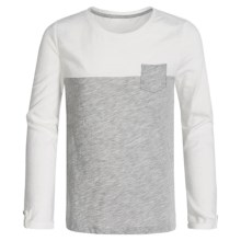Slub Knit Shirt - Long Sleeve (For Little and Big Girls) in Grey - 2nds