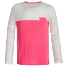 Slub Knit Shirt - Long Sleeve (For Little and Big Girls) in Pink - 2nds