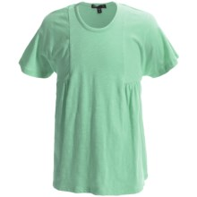Slubbed Empire-Waist Shirt - Short Sleeve (For Little and Big Girls) in Mint - 2nds