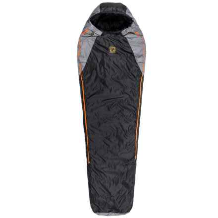 Slumberjack 0°F Sojourn DriDown Sleeping Bag - Long, Mummy, 550 FP in Black/Orange - Closeouts