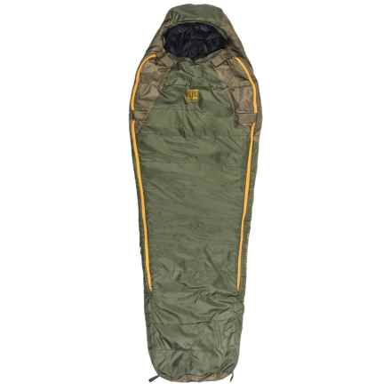 Slumberjack 20°F Lapland DriDown Sleeping Bag - Mummy, 550 FP in Green/Yellow - Closeouts