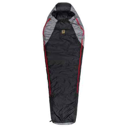 Slumberjack -20°F Sojourn Dridown Sleeping Bag - Long, Mummy, 550 FP in Black/Red - Closeouts