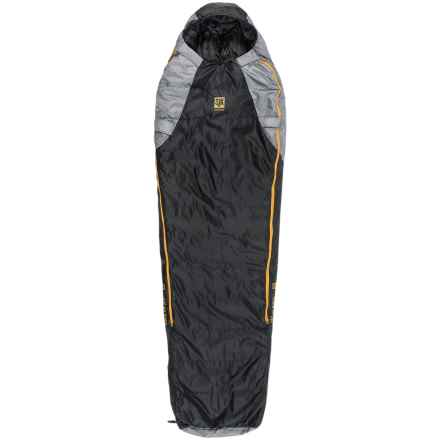 Slumberjack 20°F Sojourn DriDown Sleeping Bag - Long, Mummy, 550 FP in Black/Yellow - Closeouts