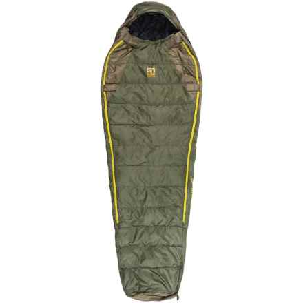 Slumberjack 40°F Lapland DriDown Sleeping Bag - Long, Mummy in Green/Yellow - Closeouts