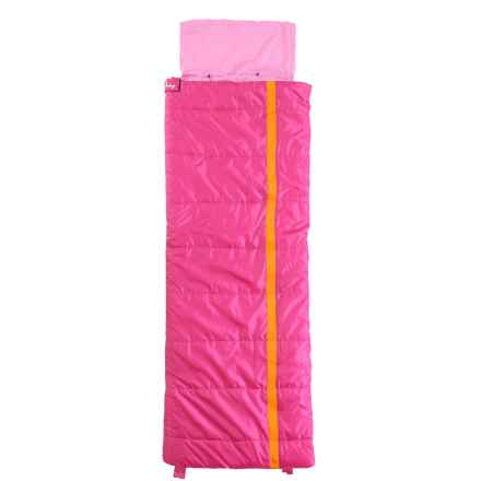 Slumberjack 40°F Sleeping Bag - Short (For Kids) in Kit Pink - Closeouts