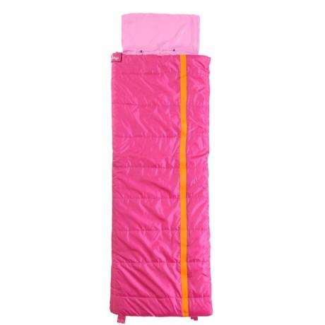 Slumberjack 40°F Sleeping Bag - Short (For Kids) in Kit Pink