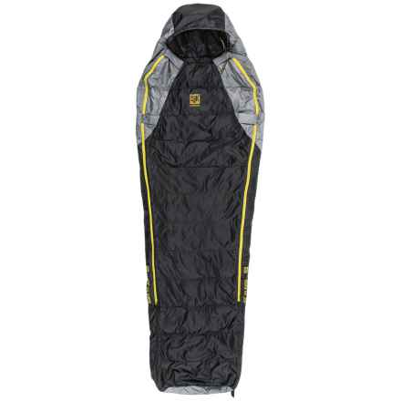 Slumberjack 40°F Sojourn DriDown Sleeping Bag - Long, Mummy, 550 FP in Black/Yellow - Closeouts