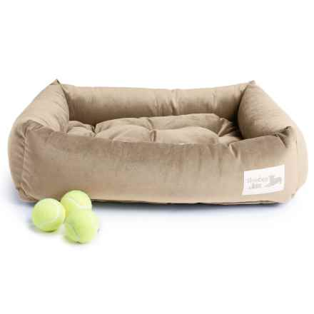 "Slumberjax Spa Dozer Pet Bed - Medium, 28x22"" in Pecan - Closeouts"