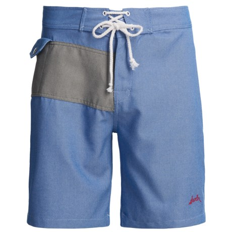 SLVDR Frisco Oxford Boardshorts (For Men) in Blue