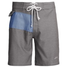 SLVDR Frisco Oxford Boardshorts (For Men) in Charcoal - Closeouts