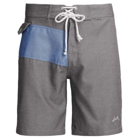 SLVDR Frisco Oxford Boardshorts (For Men) in Blue