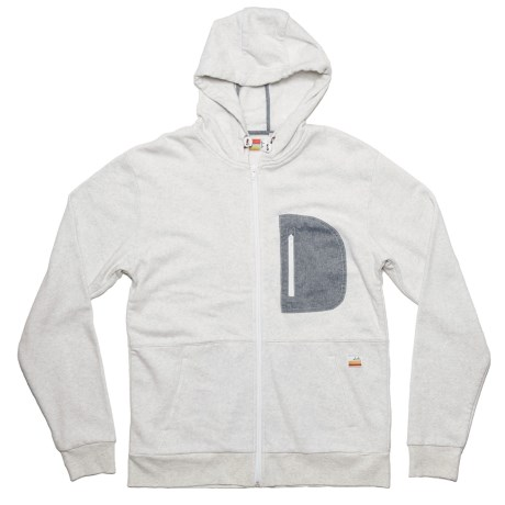 SLVDR Lockwood Hoodie - Full Zip (For Men) in Ice