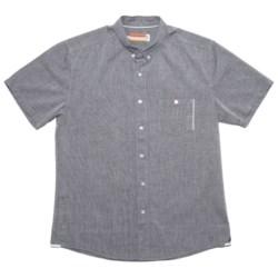 SLVDR Menard Shirt - Cotton Chambray, Short Sleeve (For Men) in Blue