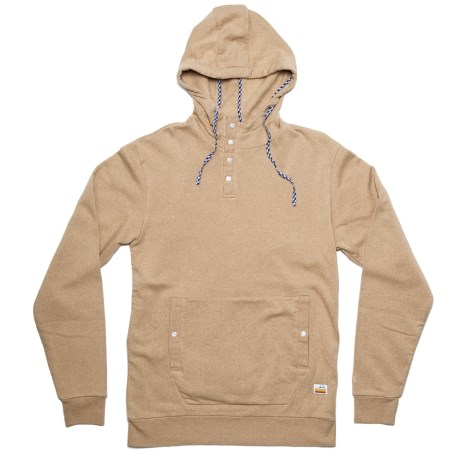 SLVDR Tapas Hoodie - Button Neck (For Men) in Sahara