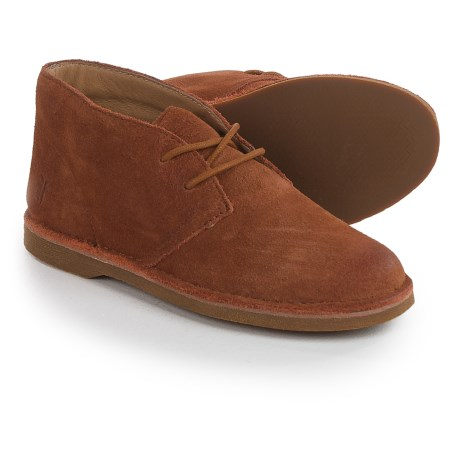 Small Frye Frye  Alex Chukka Shoes - Suede (For Little and Big Girls) in Tan