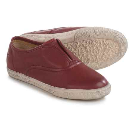 Small Frye Frye Chambers Sneakers - Leather, Slip-Ons (For Little and Big Kids) in Burnt Red - Closeouts