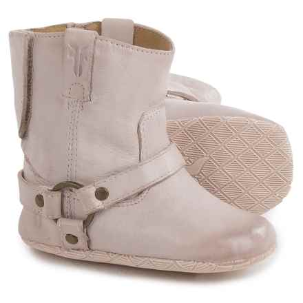 Small Frye Harness Booties - Leather (For Infants) in Pink - Closeouts