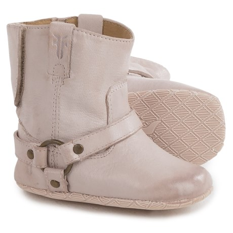 Small Frye Harness Booties - Leather (For Infants) in Pink
