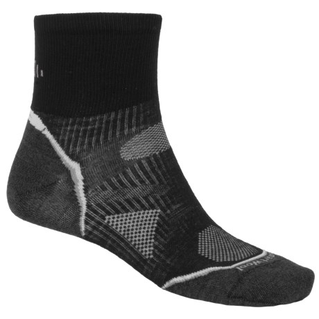 SmartWool 2012 PhD Running Mini Socks - Ultralight, Quarter-Crew (For Men and Women) in Navy Heather