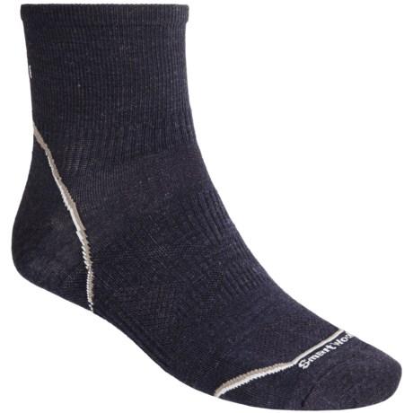 SmartWool 2012 PhD Running Mini Socks - Ultralight, Quarter-Crew (For Men and Women) in Navy Heather