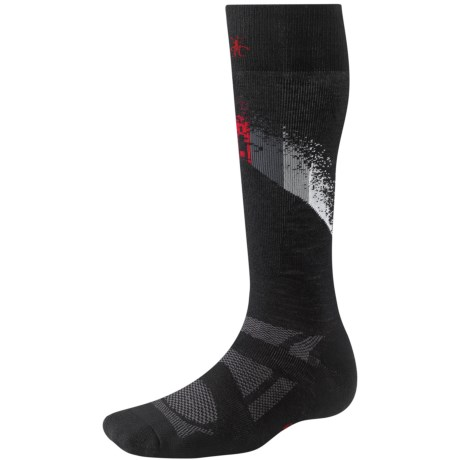 SmartWool 2013 Medium Cushion Ski Socks - Merino Wool, Over-the-Calf (For Men and Women) in Black/Red