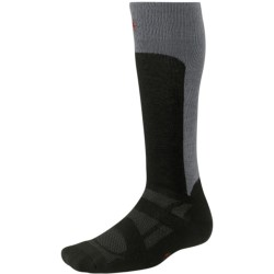 SmartWool 2013 Medium Cushion Ski Socks - Merino Wool, Over-the-Calf (For Men and Women) in Black/Red