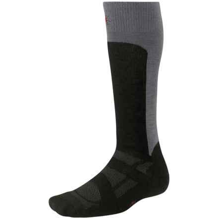 SmartWool 2013 Medium Cushion Ski Socks - Merino Wool, Over the Calf (For Men and Women) in Black - 2nds