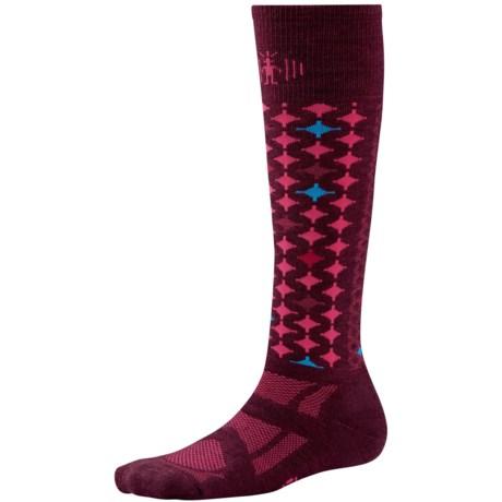SmartWool 2013 Medium Cushion Snowboard Socks (For Women) in Aubergine