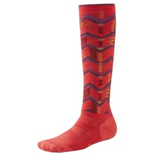 SmartWool 2013 Medium Cushion Snowboard Socks (For Women) in Hibiscus - 2nds