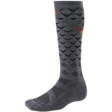 SmartWool 2013 Medium Cushion Snowboard Socks - Merino Wool, Over-the-Calf (For Men and Women) in Graphite/Orange - 2nds