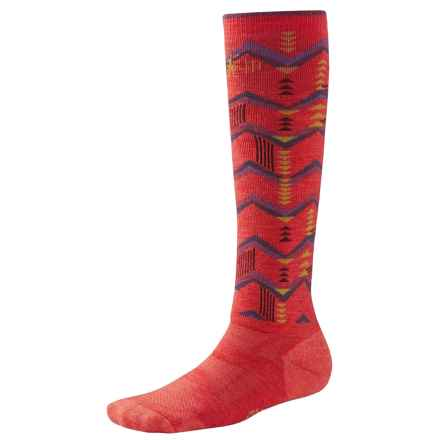 SmartWool 2013 Medium Cushion Snowboard Socks - Over  the Calf (For Women) in Hibiscus - 2nds