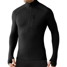 SmartWool 2013 MerinoMax Base Layer Top - Zip Neck, Long Sleeve (For Men) in Black - Closeouts