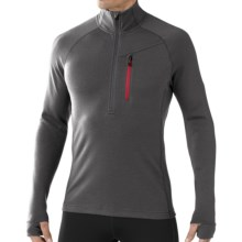 SmartWool 2013 MerinoMax Base Layer Top - Zip Neck, Long Sleeve (For Men) in Graphite - Closeouts
