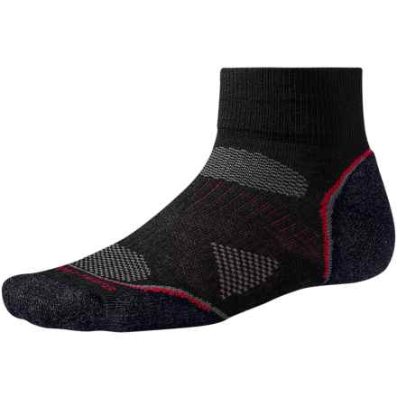 SmartWool 2013 PhD Cycle Light Socks - Merino Wool, Quarter-Crew (For Men and Women) in Black - 2nds