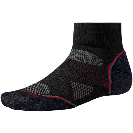 SmartWool 2013 PhD Cycle Light Socks - Merino Wool, Quarter-Crew (For Men and Women) in Black