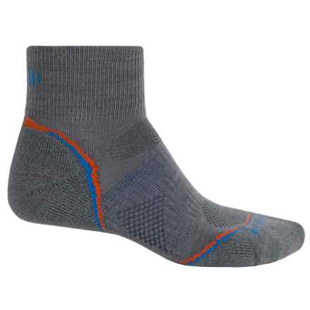 SmartWool 2013 PhD Cycle Light Socks - Merino Wool, Quarter-Crew (For Men and Women) in Graphite - 2nds